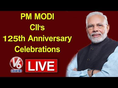 PM Modi LIVE   CII's 125th Anniversary Celebrations   V6 Telugu News