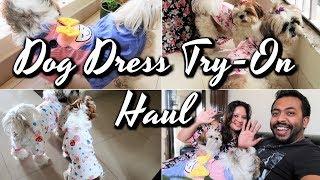 Dog Clothing Haul   Pet Dress Haul   Puppy Clothing Haul   Dog Dress Try On Haul