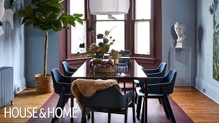 Bold Color DIY: Victorian Dining Room Makeover