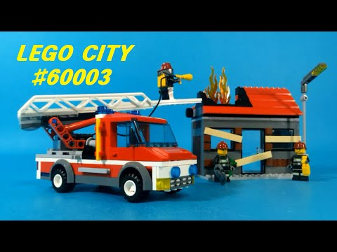 Vidéo LEGO City 60003 : L'intervention du camion de pompier