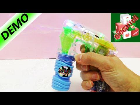Pistola di bolle di sapone con luci colorate