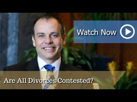 Are All Divorces Contested?  | Duluth Divorce Attorney David Ward | The Ward Law Firm