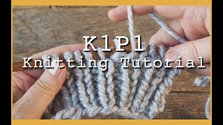K1P1 Rib Stitch for Beginners | Flat Knitting K1 P1 | Rib Stitch for Hats and Scarves