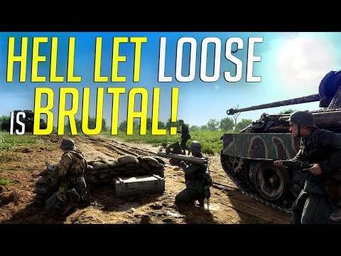 Hell Let Loose is BRUTAL! - New WW2 FPS Review - Early Access