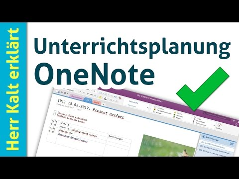 Digitale Unterrichtsplanung mit OneNote (Tipps für Einsteiger)