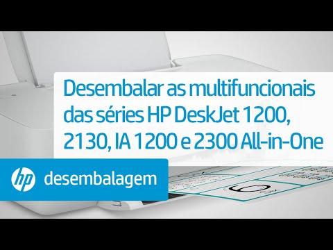 Desembalar as multifuncionais das séries HP DeskJet 1200, 2130, Ink Advantage 1200 e 2300 All-in-One
