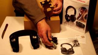 UNBOXING STEREO WIRELESS HEADPHONES THOMSON WHP3311BK