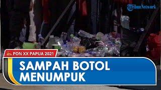 Imbas Larangan Membawa Botol Air Mineral ke Venue Penutupan PON XX, Sampah Menumpuk dan Berserakan