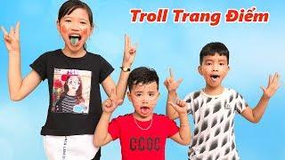 Trò Chơi Những Em Bé Vui Nhộn Và Kẹo Nhuộm Lưỡi ♥ Min Min TV Minh Khoa