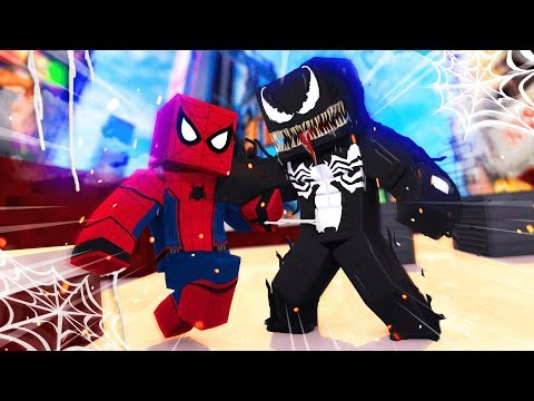 Minecraft - VENOM VS SPIDERMAN!  (Venom Mod in Minecraft)