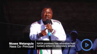 Nasa team promises free education among other goodies
