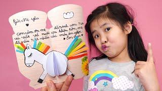 Bé Bún Tự Làm Thiệp Tặng Mẹ - Diy card for mother's day