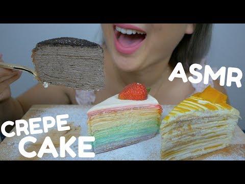 ASMR CREPE CAKE | Soft Relaxing Eating Sounds| N.E ASMR