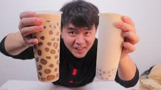 男子嫌奶茶的珍珠不够吃,自制满满一倍珍珠的奶茶,直接吃到饱