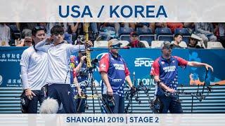 USA v Korea – compound men's team gold   Shanghai 2019 World Cup S2