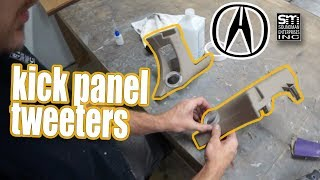 Kick panel tweeters for the Acura! Q-Logic style!