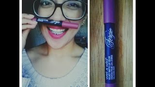New! Wet n Wild Fergie velvet matte lip color review!