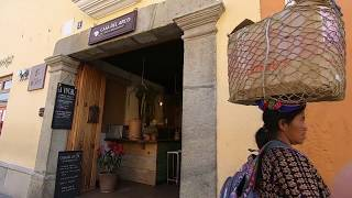 Going to the Bank in Antigua, Guatemala