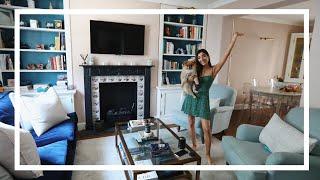 MY LIVING ROOM TOUR! + Kitchen + Dining Room   HOME TOUR    Amelia Liana