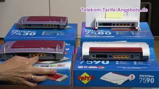 Vergleich AVM FritzBox 7430 / 7490 / 7580 / 7590 - für Telekom Anschluss