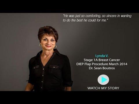 Lynda V. DIEP flap patient Dr. Sean Boutros