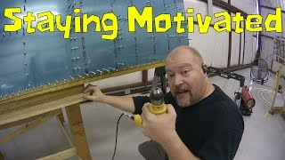 RV-10 Wings - 037 - More drilling, Staying Motivated, Catching up in the new year