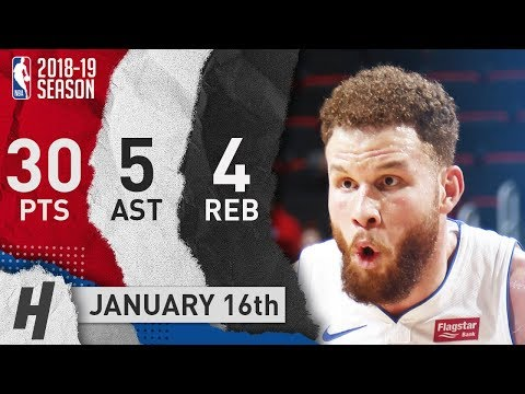 Blake Griffin Full Highlights Pistons vs Magic 2019.01.16 - 30 Pts, 5 Ast, 4 Rebounds!