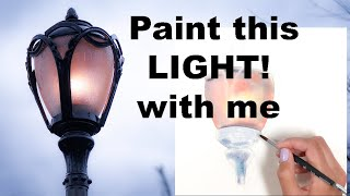 Paint this Lantern with me in Watercolors Create multiple Layers for Vibrancy