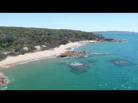 Drone shots of Chinamans beach and surf
