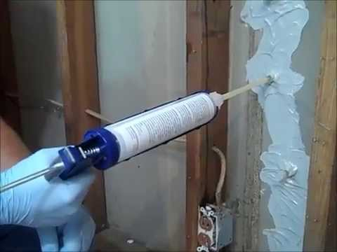 Polyurethane Concrete Crack Injection In a Basement Wall