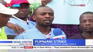 ON STRIKE : Pumwani Maternity Hospital Contracted workers down their tools