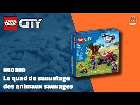 Vidéo LEGO City 60300 : Le quad de sauvetage des animaux sauvages