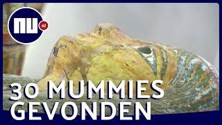 Vondst van de eeuw: Egypte toont 30 sarcofagen | NU.nl