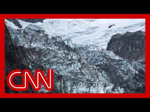 Villages fear giant ice chunk will fall off glacier