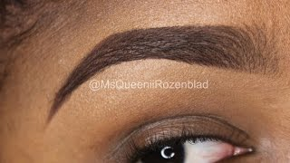 HOW TO FILL IN EYE BROWS / Faded Eye Brow /Instagram Eye Brow tutorial - Queenii Rozenblad