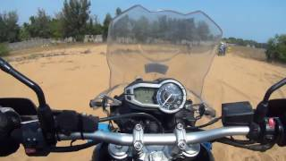 Off The Road: Riding A Triumph Tiger 800XC On Sand.
