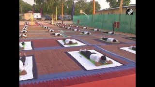 CRPF personnel perform Yoga in Jammu - Download this Video in MP3, M4A, WEBM, MP4, 3GP