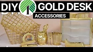 Affordable & EASY DIY: High End Gold Desk Accessories || Whiskey & Whit
