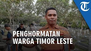 Hadir di TMP Kalibata, Warga Timor Leste Ini Kenang Jasa BJ Habibie