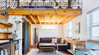 Handcrafted Blue Door Micro-Loft In Hip And Arty Location | Living Design For A Tiny House