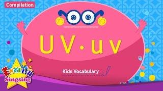 Kids từ vựng biên soạn - Words bắt đầu với U u, v v