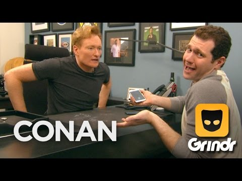Conan and Billy Eichner Join Grindr - CONAN on TBS (видео)