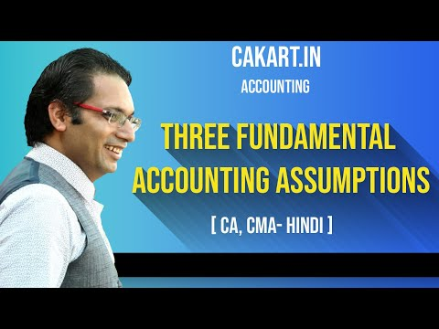 Three Fundamental Accounting Assumptions, Accounting Lecture by Prof Ved for CA Foundation Students.