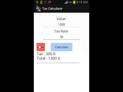 Video of Tax Calculator