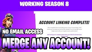 how to merge 2 pc fortnite accounts without email access