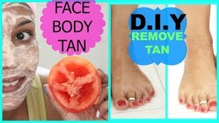 How To Remove Sun TAN From BODY,FACE FAST,SKIN Lightening Remedy Naturally | SuperPrincessjo