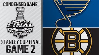 05/29/19 Cup Final, Gm2: Blues @ Bruins