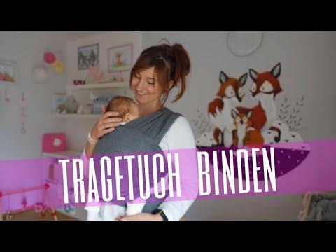 leichte Tragetuch Bindeanleitung Baby / Neugeborenes