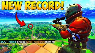 Setting New Snipe Record..!! 579M 😱- Fortnite Funny Fails and WTF Moments! #250 (Daily Moments)