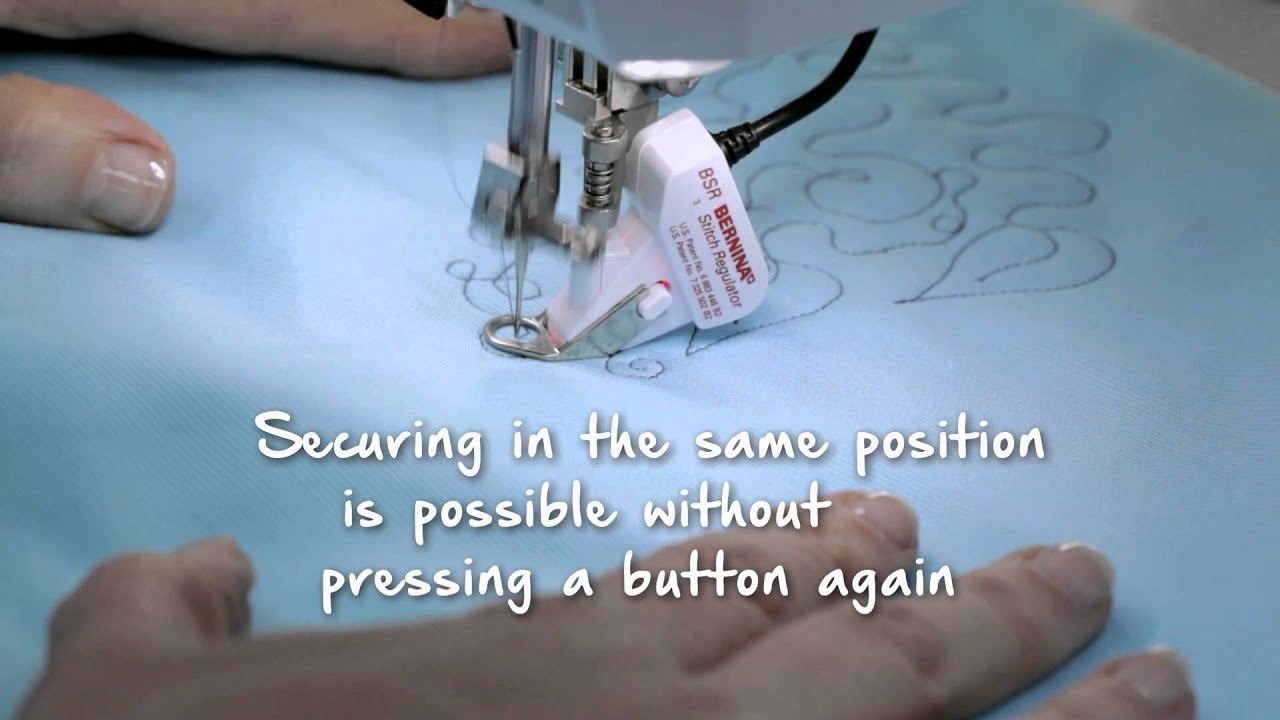 BERNINA 790 PLUS: Sewing with the BERNINA Stitch Regulator (BSR)
